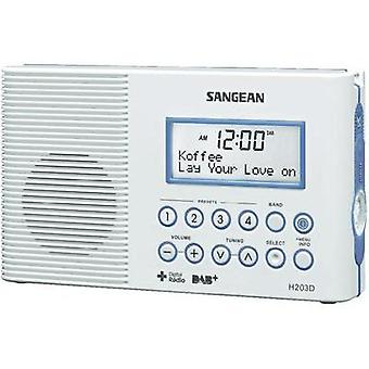Sangean H-203 D Bathroom Radio, White
