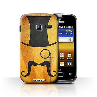 STUFF4 Case/Cover for Samsung Galaxy Y Duos/S6102/Top Hat/Monocle/Retro Moustache