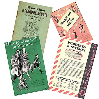 WW2 Replica Home Booklet Bundle - Wartime Cookery, Made Do & Mend, Puddings & Sweets and How to Keep Well