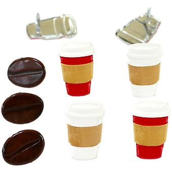 Eyelet Outlet Shape Brads 12/Pkg-Coffee QBRD2-44