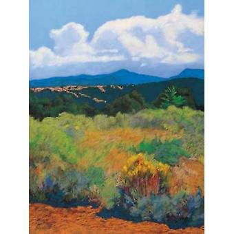 Distant Hills Poster Print by Mary Silverwood