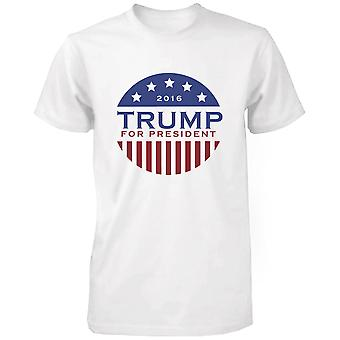 Trump Donald for President 2016 Campaign T-shirt White Short Sleeve Tee Funny Shirt