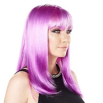 Party Wig - Long Wave - Twilight Purple - Bright Colours