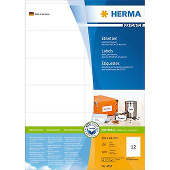 Labels white 105x48 Herma Premium A4 1200 pcs.