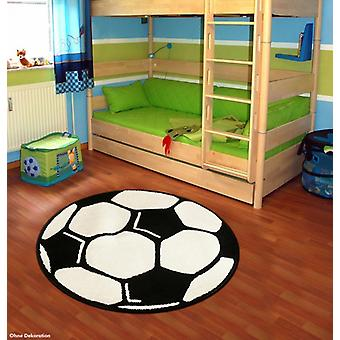 Football rug round for kids