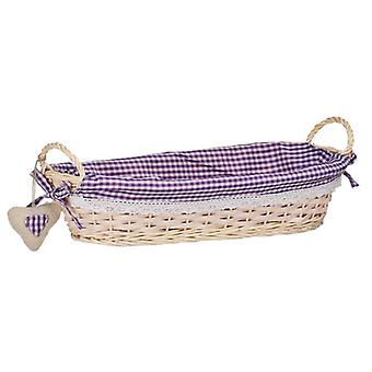 Oblong Bread Basket Violet