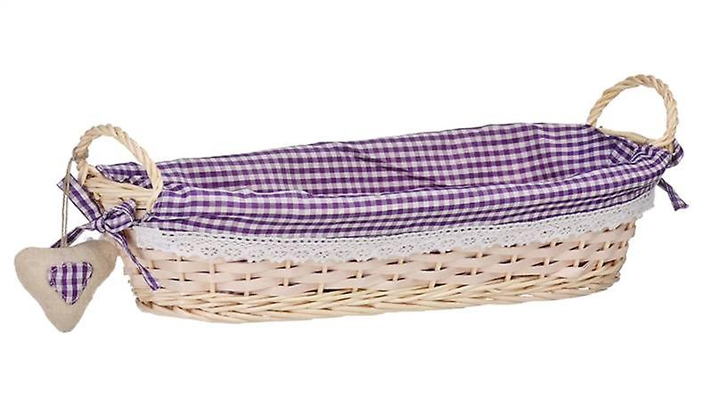 Oblong Bread Basket Purple