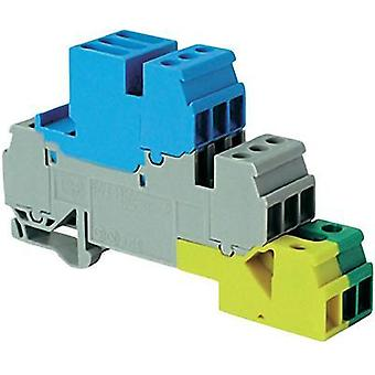 Industrial terminal block 17.8 mm Screws Configuration: Terre, N, L Grey, Blue, Green-yellow ABB 1SNA 110 269 R1700 1 pc