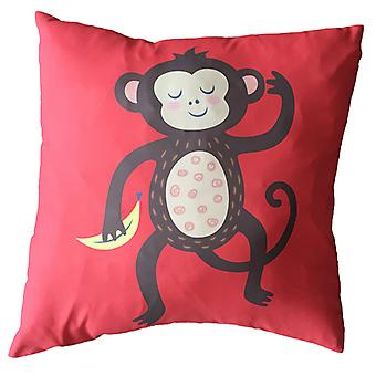Puckator Scatter Cushion with Insert, Monkey Design, 50x50cm