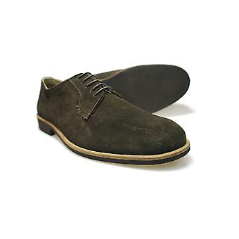 Ikon Arizona Mens Brown Suede Casual Gibsons