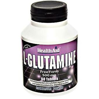Health Aid L-Glutamine 500 mg 60 Tablets (Sport , Récuperation)