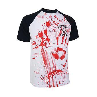 Zombie Killer 13  Mens Baseball Tshirt