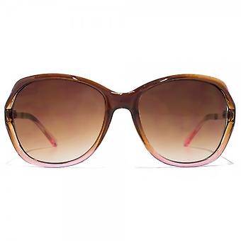 Glare Eyewear Chloe Cut Out Sunglasses In Brown Pink Gradient