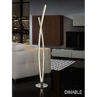 Schuller Linur LED Chrome Bars Floor Lamp