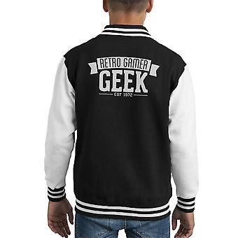 Varsity Jacket di retro Gamer Geek bambino