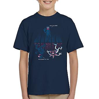 Stranger Things Now I Am Upside Down Grover Kid's T-Shirt