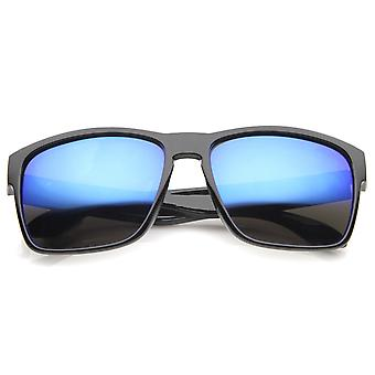 Action Sport Modern Frame Mirrored Lens Rectangle Sunglasses 59mm