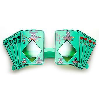 Poker Party Royal Flush Joker Diamond Vegas Casino Novelty Sunglasses