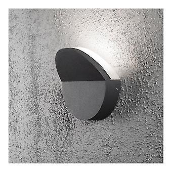 Konstsmide Matera Modern LED Graphite Outdoor Wall Washer Light