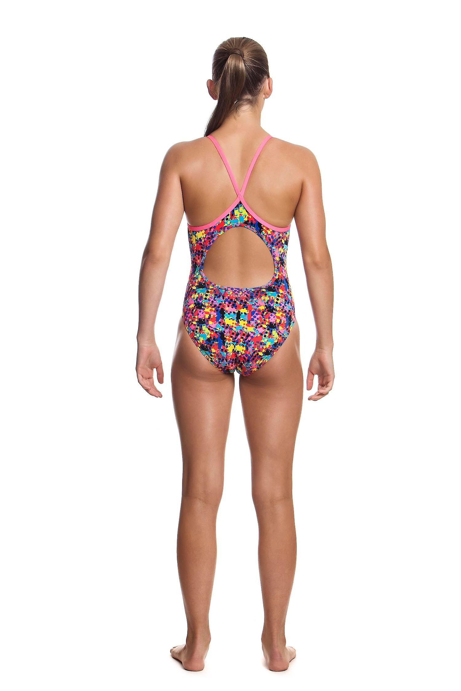 Funkita Girls Diamond Back One Piece Swim Suit - Paintballs
