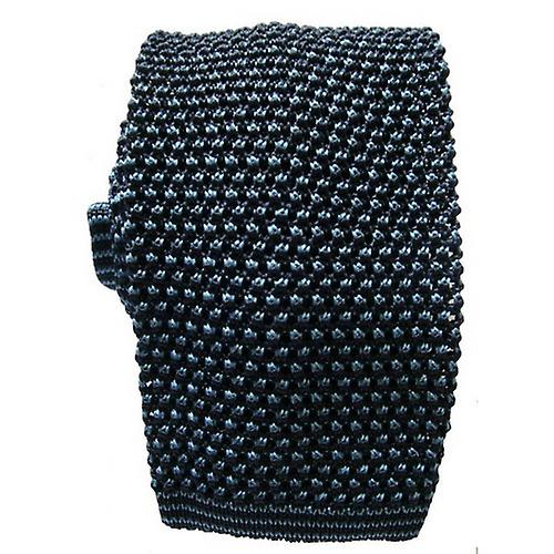 KJ Beckett Two Tone Knitted Tie - Navy/Blue