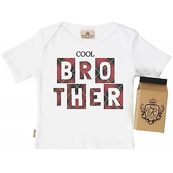 Spoilt Rotten Cool Brother Babys T-Shirt 100% Organic In Milk Carton