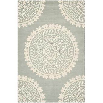 Elletræ grå & elfenben uld tæppe - Safavieh