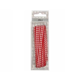 5m Gingham Red & White Ribbon for Crafts | Ribbons & Bows for Crafts