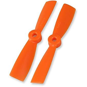 Multicopter Propeller, 2 pair, 4x4.5 , orange Bullnose