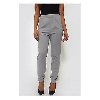 The Fashion Bible Grey Tapered Trousers