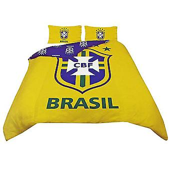 Housse de couette réversible officiel de Football de Brésil Bedding Set (Single et Double)