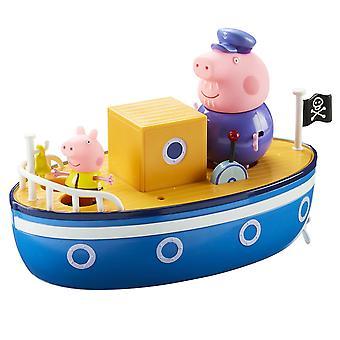 Baño tiempo barco de cerdo de Peppa Pig abuelo