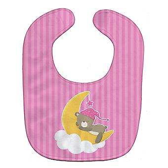 Carolines Treasures  BB8617BIB Baby Girl Bear Sleeping Baby Bib