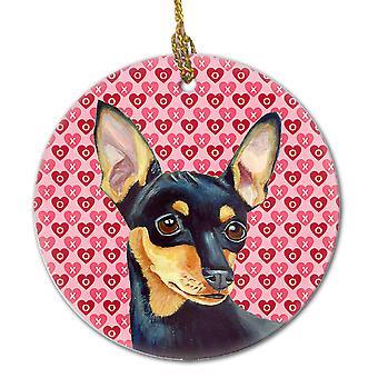 Carolines Schätze LH9155CO1 Min Pin Valentinstag Liebe und Herzen Keramik Ornam