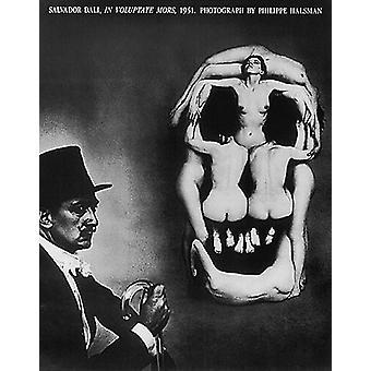 Salvador Dal i Voluptate Mors 1951 Poster trykk av Philippe Halsman (24 x 30)