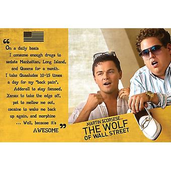 Wolf Of Wall Street Quote Poster Poster Print