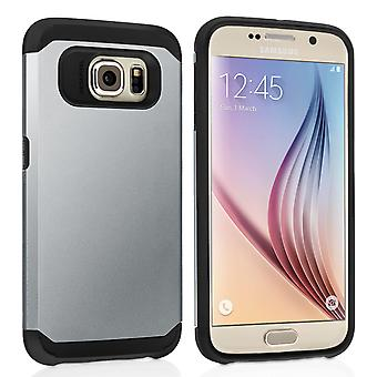 Caseflex Samsung Galaxy S6 Tough Armor - Satin Silver Case