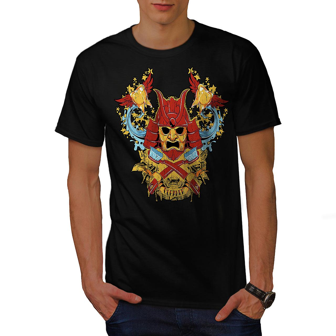 Samurai Cleaner Fantasy Men Black T-shirt | Wellcoda