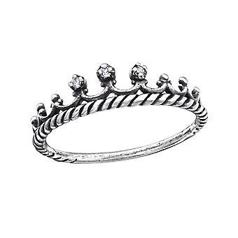 Krone - jeweled 925 Sterling Silber Ringe