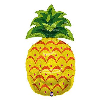 Oaktree 37 Inch Supershape Sparkling Pineapple Foil Balloon