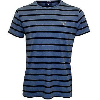 GANT bretón raya-shirt, azul/azul marino