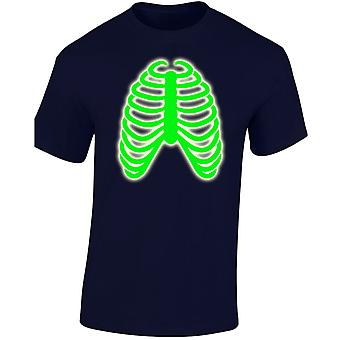 Rib Cage Glow In The Dark Costume Fancy Dress Halloween Kids Unisex T-Shirt 8 Colours (XS-XL) by swagwear