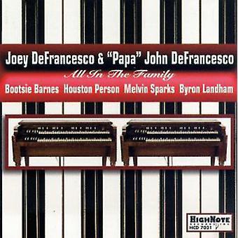 Joey Defrancesco & Papa John - All in the Family [CD] USA import