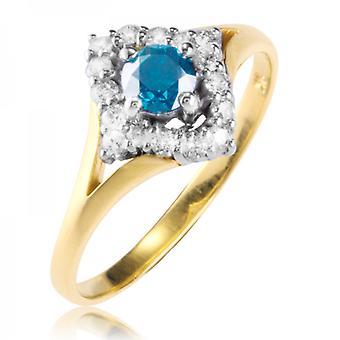 Shipton e Co Ladies Shipton e Co esclusiva 9ct giallo anello di oro e diamanti RYD147DI