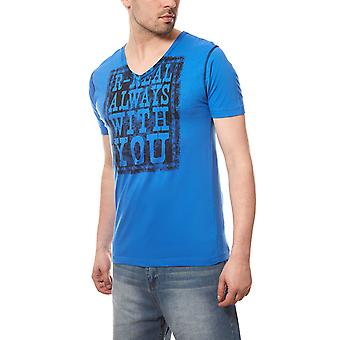 RUSTY NEAL statement T-Shirt always gentlemen Blau