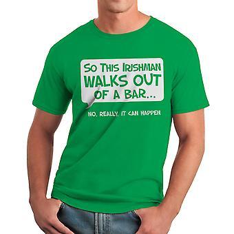 Humor så en irländare mäns Kelly grön T-shirt