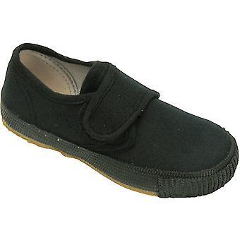 Mirak Boys 99248 Fastening Plimsoll Sneaker Trainer Black (Sml)
