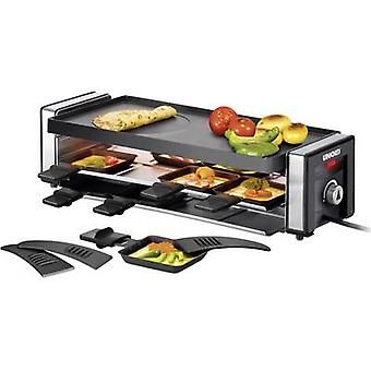 Raclette Unold Finesse 8 pannikins, with manual temperature settings Black, Silver