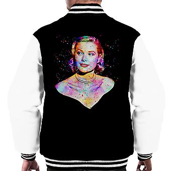 Grace Kelly At Cannes Film Festival 1955 Multicolour Men's Varsity Jacket