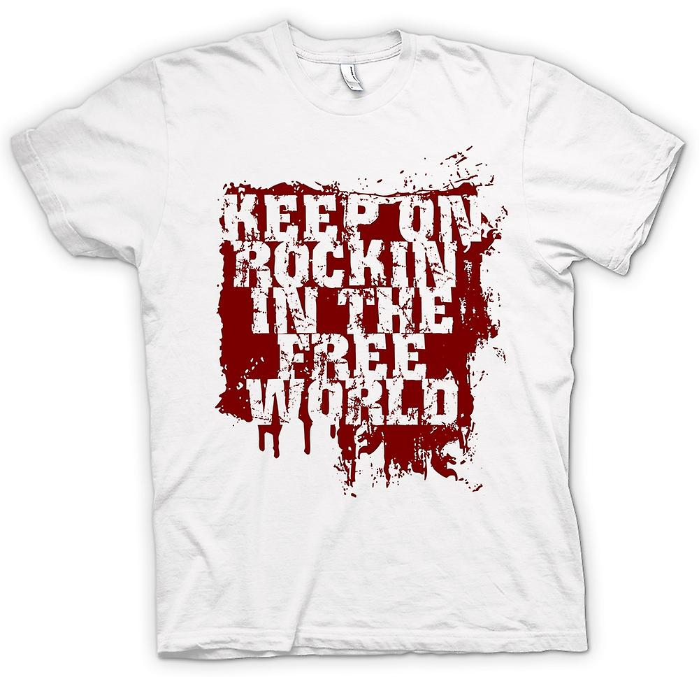 T-shirt-Keep On Rockin In The Free World